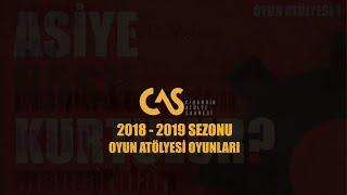 """CİHANGİR ATÖLYE SAHNESİ """"OYUN ATÖLYELERİ"""" 2018-2019 EĞİTİM SEZONU"""