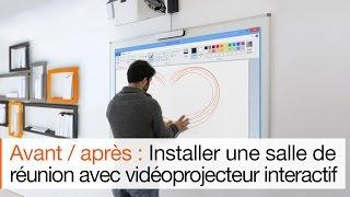 Cloison interactive Hoyez pour vidéoprojecteur interactif Nec-eBeam