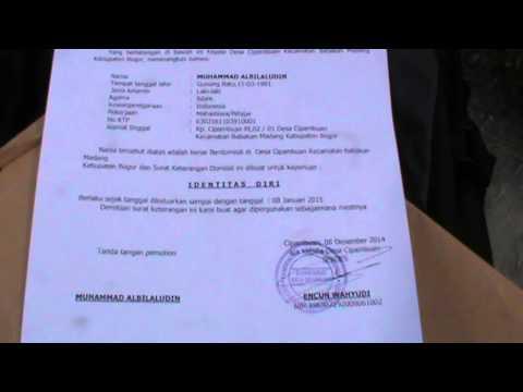 M. Albilaluddin al-Banjari, Surat keterangan domisili sementara di Cipambuan heh