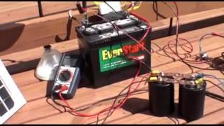(24V) Solar TS SS SSG Charging 12V battery and running 20 Watt Load Pt.2