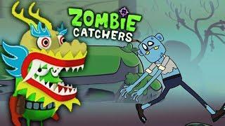 ДРАКОША ЭЙ-ДЖЕЙ ОХОТИТСЯ НА ЗОМБИ! Мультяшная игра Zombie Catchers от Мобика