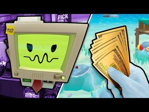 WE STOLE JOB BOT'S SECRET MONEY FOR VACATION SIMULATOR | Job Simulator VR Infinite Overtime HTC Vive
