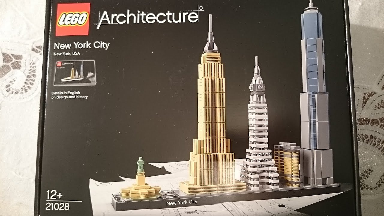 lego architecture new york city skyliner 21028 speed build and unboxing youtube. Black Bedroom Furniture Sets. Home Design Ideas