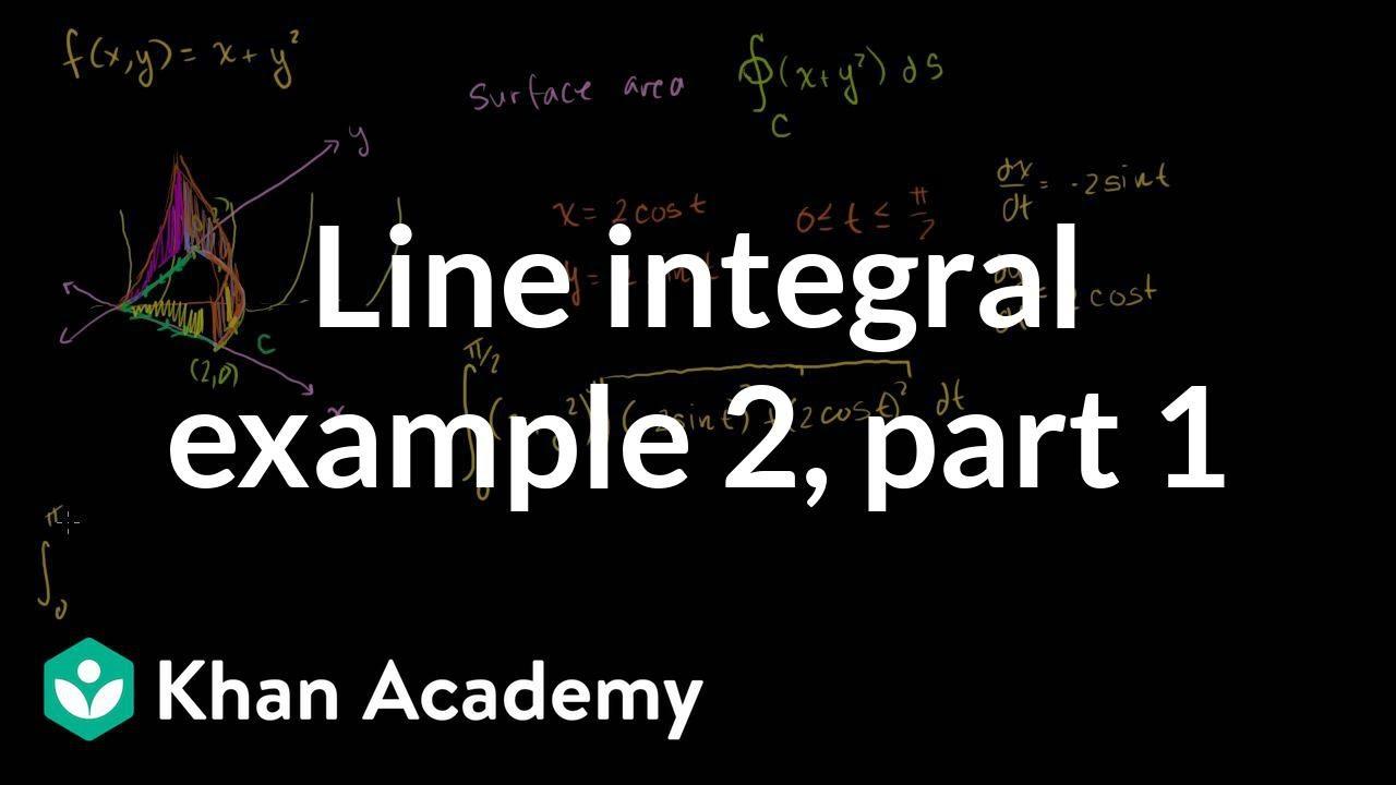 Line Integral Example 2 Part 1 Video Khan Academy