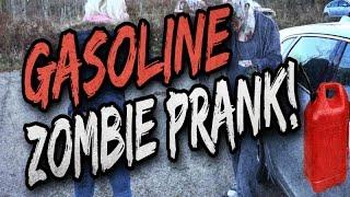 Gasoline zombie prank