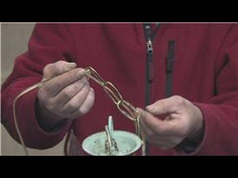 Carpentry & Saws : How to Shorten the Chain on a Chandelier - YouTube