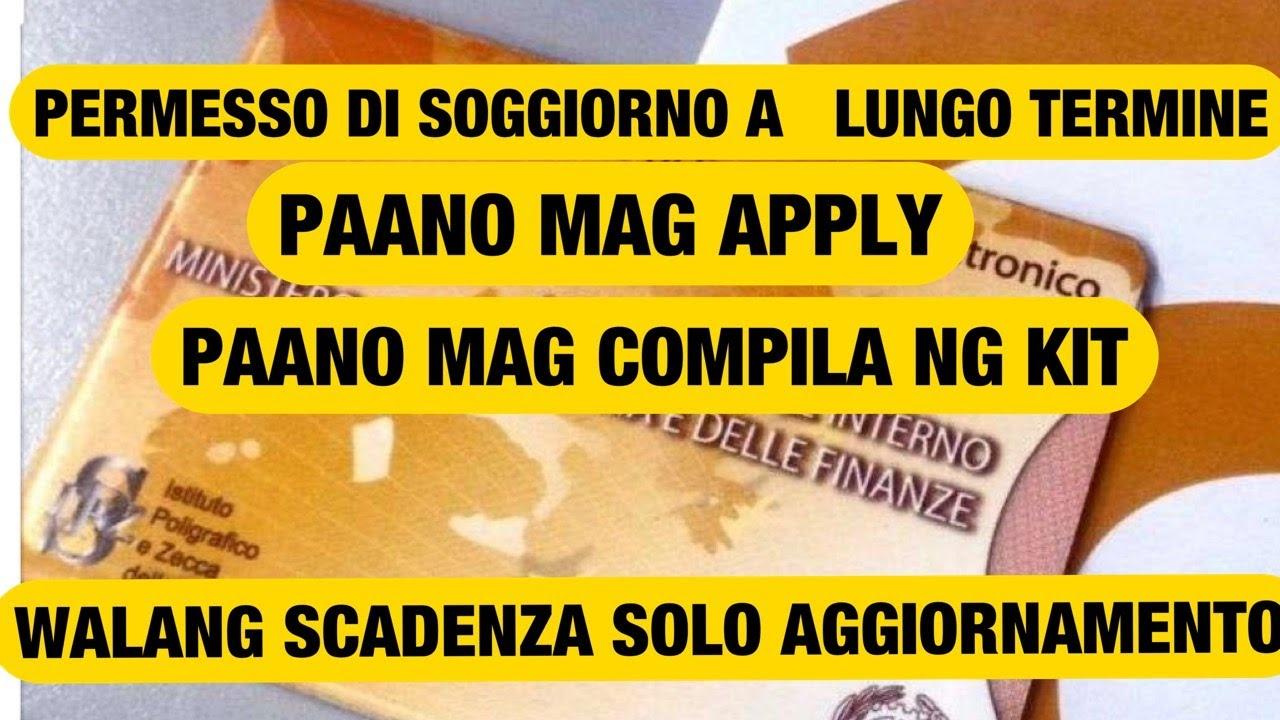 PERMESSO DI SOGGIORNO A LUNGO TERMINE CE: PAANO MAG APPLY ...