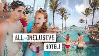 Better Than a Cruise Ship?! - Our First ALL INCLUSIVE HOTEL in Cancun, Mexico! (Iberostar Prestige)