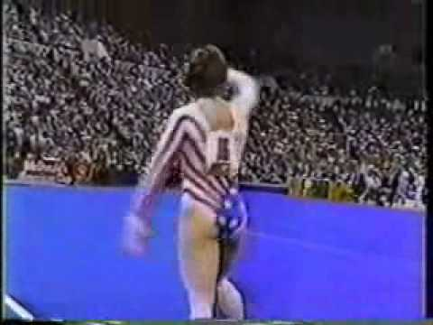 mary lou retton 1985 american cup floor exercise
