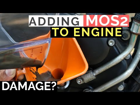 ADDING MoS2 ENGINE OIL ADDITIVE IN ENGINE | LIQUI MOLY MoS2 ADDITIVE REVIEW YAMAHA FZ 25 MOTORCYCLE