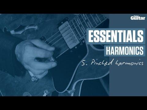 Essentials Lesson: Harmonics -- Example 5 -- Pinched Harmonics (TG222)