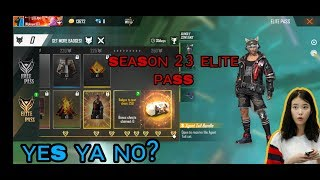 Elite pass season 23 full details||agent paws season 23 in freefire||freefire event today elite pass