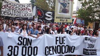 La Plata se manifestó a 41 años del Golpe de Estado