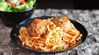 Spaghetti & Meatballs Creamy Delicious Recipe!