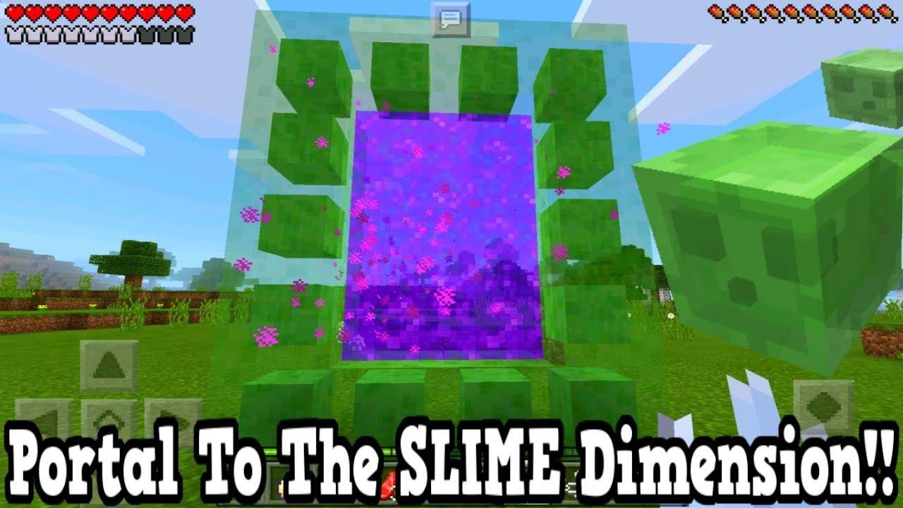 Minecraft Pe Portal To The Slime Dimension Mcpe Portal To The - Minecraft teleport player to dimension