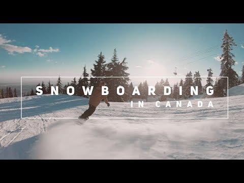 Snowboarding in Canada | 4K | GoPro Hero 6 Black + GoPro Karma