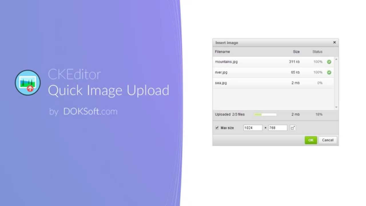 CKEditor Quick Image Upload demo