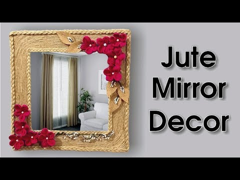 Handmade Jute Wall Mirror Decoration Idea