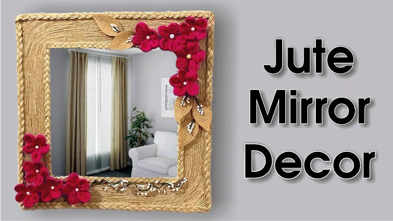 Handmade Jute Wall Mirror Decoration Idea Youtube
