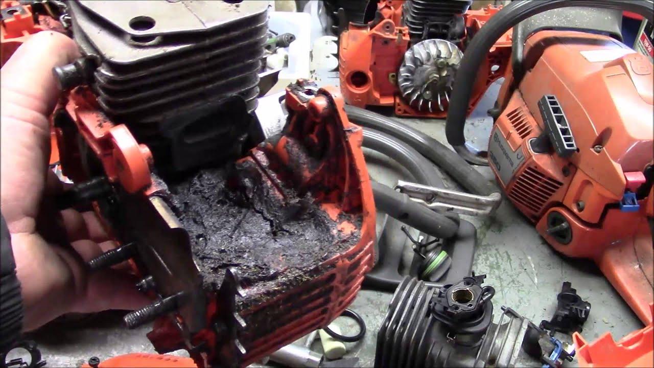 husqvarna 345 to 350 conversion  a firewood saw  simple