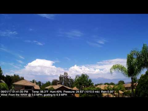 Chino Hills Time-Lapse 8/1/17