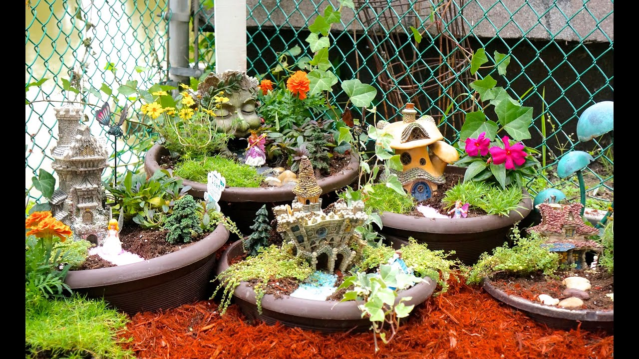 How to make a diy fairy garden youtube Small garden fairies