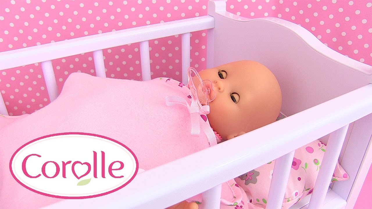 corolle b b mon premier lit bascule baby doll cradle accessoire poupon youtube. Black Bedroom Furniture Sets. Home Design Ideas