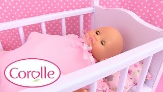 Corolle Bébé Mon Premier Lit à Bascule Baby Doll Cradle Accessoire Poupon