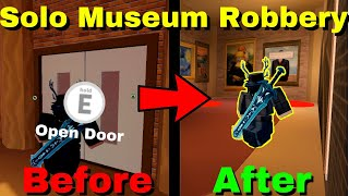 Roblox Jailbreak Brand New Solo Museum Robbery Glitch! | How To Rob The Museum By Yourself