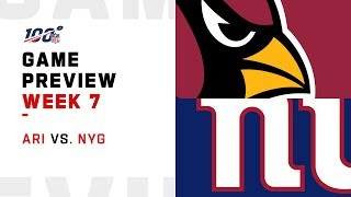 Arizona Cardinals vs. New York Giants Week 7 NFL Game Preview Video