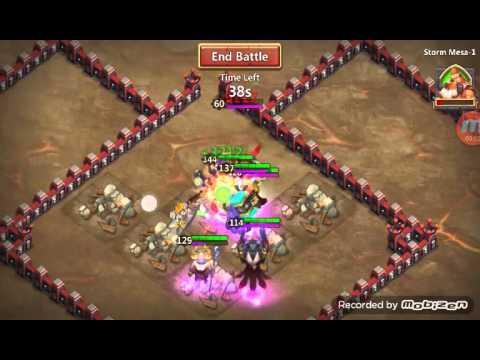 I Bet Storm Mesa 1 Alone!?! Castle Clash
