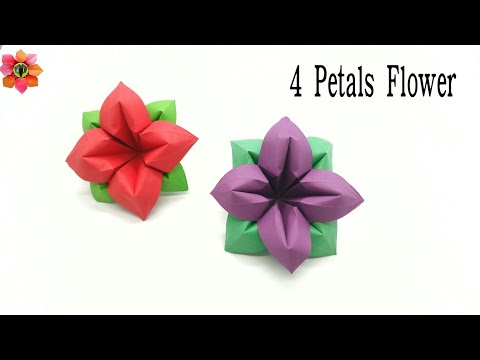 4 petals flower diy origami tutorial paperfolds origami 4 petals flower diy origami tutorial paperfolds origami arts and crafts mightylinksfo