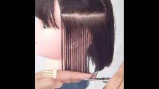 黃思恒編製數位美髮影片--水平零層次平行裁剪
