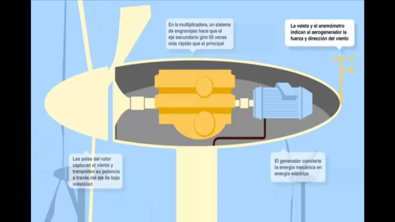Resumen de las partes de un aerogenerador e lico youtube for Partes de un vivero forestal