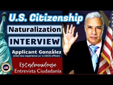 US Citizenship Mock Naturalization Interview Applicant González (Based, Actual/R