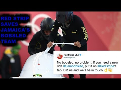 JAMAICA BOBSLED TEAM SAVED BY RED STRIPE