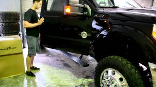 Minco Auto and Truck Accessories - Amp Research automatic steps on a 2012 F-350