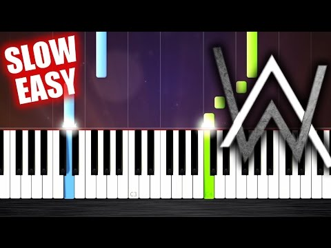 Alan Walker - Alone - SLOW EASY Piano Tutorial by PlutaX