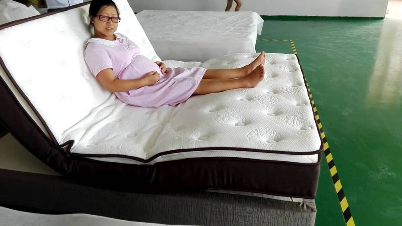 Foldable Mattresses Double Bed Design Furniture Sponge Foldable Mattress With Wireless Remote Control
