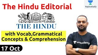 8:00 AM - The Hindu Editorial Analysis by Ashutosh Sir | 17 Oct |  Bank,SSC,UPSC & State PSC