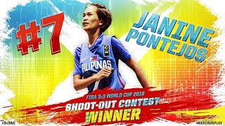 Janine Pontejos (Philippines) shot the lights out to win 3x3 World Cup Shoot-Out Contest!