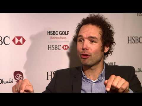Thimon de Jong at the HSBC Golf Business Forum