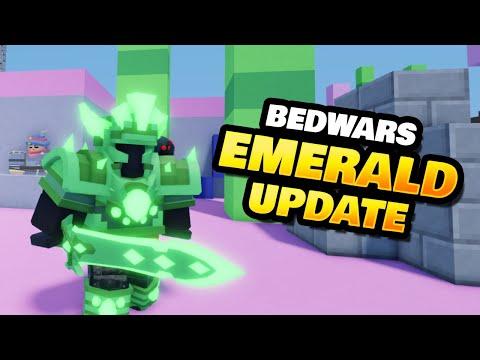 Emerald Update in Roblox BedWars (New Armor, Sword & Map)