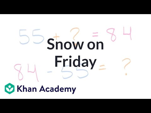 Snow On Friday | Addition And Subtraction Within 100 | Early Math | Khan Academy