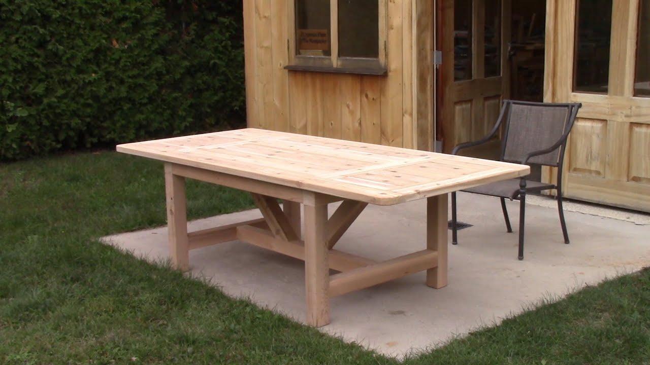 the woodpecker ep 194 cedar patio table