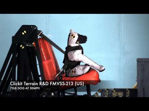 Clickit Terrain Dog Safety Harness - FMVSS-213 and CMVSS-213 Crash Test Research
