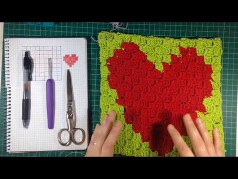 Técnica C2C para tejer a ganchillo todos los patrones de punto de ...