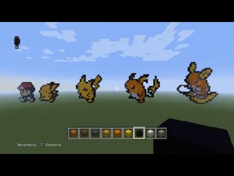 Minecraft Pixel Art Alola Raichu Youtube