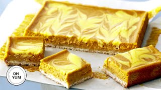Pumpkin Cheesecake Squares | Oh Yum with Anna Olson