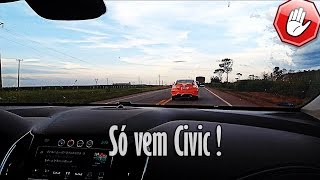Novo Cruze 1.4T - Racha com o Civic SI